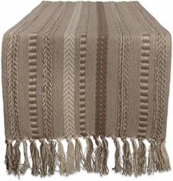 DII Braided Cotton Table Runner Perfect for Spring, Fall 15x