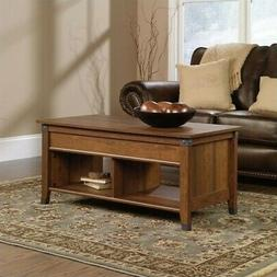 Sauder Carson Forge Lift-Top Wood and Metal Coffee Table in