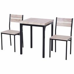 3 Piece Dining Set With Chairs Kitchen Table Country Wood To