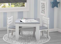 Delta Children Chelsea 3-Piece Table and Chairs Set with Sto