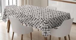 Chevron Tablecloth Ambesonne 3 Sizes Rectangular Table Cover