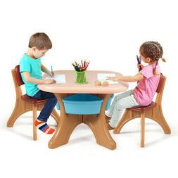 children kids activity table and chair set