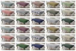 Classic Plaid Tablecloth Ambesonne 3 Sizes Rectangular Table