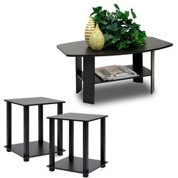 Coffee Table And 2 End Tables Side 3 Piece Set Modern Furnit