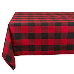 Tablecloth DII Red and Black Buffalo Check Color 60 x 104 In