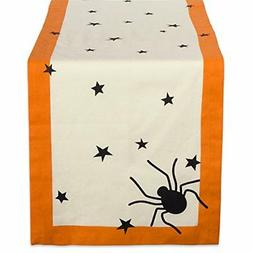 """DII 14x108"""" Cotton Table Runner, Black stars - Perfect for H"""
