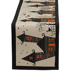 """DII 100% Cotton, Spooky, Scary, Haunted House 14 x 72"""" Hallo"""