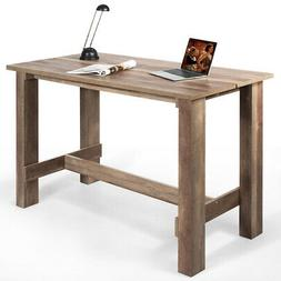 Counter Height Dining Table Rectangular Rustic Style Kitchen