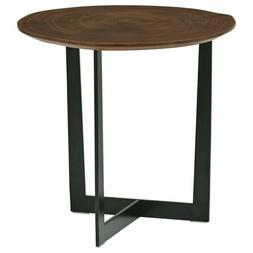 Rivet CT-355C Bristol Natural Edge Black Metal Side Table, W