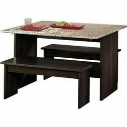 dining room set chairs table benches trestle