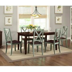 Dining Room Set Farmhouse Kitchen Tables And Chairs Six Seat