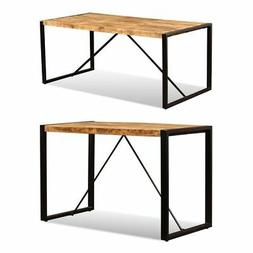 """vidaXL Dining Table Solid Rough Mango Wood 47.2""""/70.9"""" Kitch"""