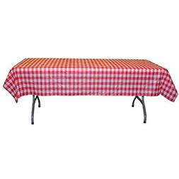 Disposable Table Cover Roll Gingham Plastic Tablecloth Roll