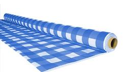 Disposable Table Cover Roll Gingham Plastic Tablecloth Roll,