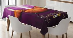 Dwali Tablecloth Ambesonne 3 Sizes Rectangular Table Cover D