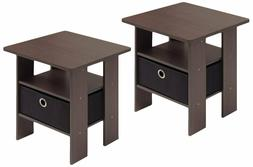 End Tables Living Room Set Of 2 Side With Storage Drawer Bed