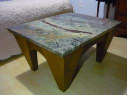 Exquisite Rain Forest Marble Coffee Table Made in USA