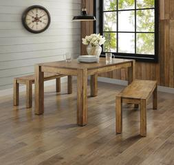 Farmhouse Dining Room Table Set Rustic Wood Kitchen Tables A