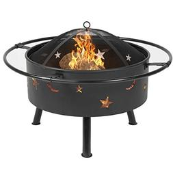 "Best Choice Products 30"" Fire Pit cooking Grill FireBowl Out"