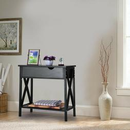 Flip Top Table Modern Accent Side Stand Sofa Entryway Hall D