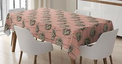 Flowers Pattern Tablecloth Ambesonne 3 Sizes Rectangular Tab