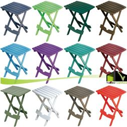 Foldable SIDE TABLE Outdoor Patio Porch Pool Resin Plastic Lightweight 13 COLORS