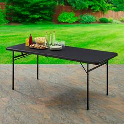 Folding Table 6 Foot Carrying Handle Rubber Camping Parties