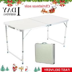 Folding Camping Table Indoor Outdoor BBQ Portable Plastic Pi