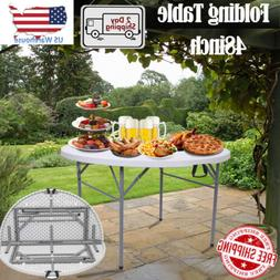 Folding Table Outdoor Garden Round Table for BBQ, Camping Lo