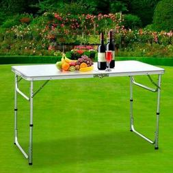 Folding Table Portable Plastic Indoor Outdoor BBQ Picnic Par