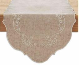 Lenox French Perle 54-Inch Table Runner in Linen