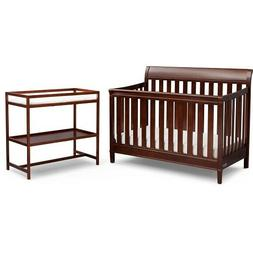DELTA CHILDREN HARBOR 4 IN 1 CONVERTIBLE CRIB & CHANGING TAB