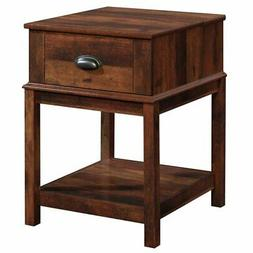 Sauder Harbor View 1 Drawer End Table in Curado Cherry