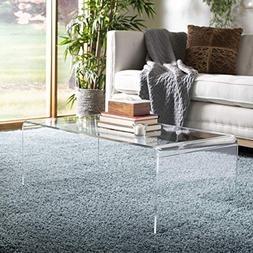 Safavieh FOX6015A Home Collection Atka Coffee Table, Clear