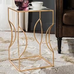 Safavieh Home Collection Vera Antique Gold Leaf End Table, E