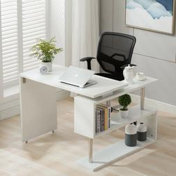 Home Office Rotating Computer Desk Workstation Study PC Tabl