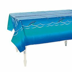 jawsome shark plastic tablecloth party supplies 1