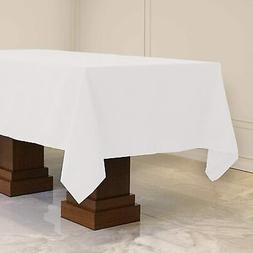 Kadut Rectangle Tablecloth  White Rectangular Table Cloth fo