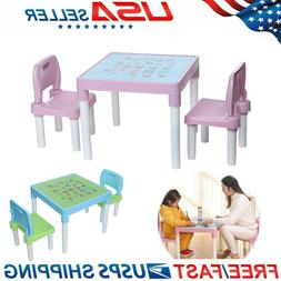 kids activity plastic table and 2 chairs