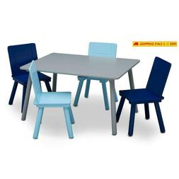 Delta Children Kids Chair Set And Table , Grey/Blue