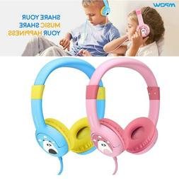 Mpow Kids Childs Boys Girls Wired On-Ear Headphones for Cell
