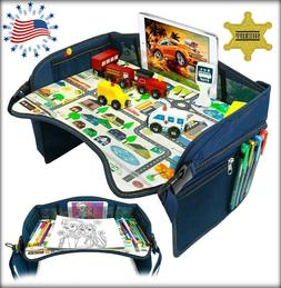 Kids Travel Activity Tray, Drawing Table, Airplane Play & Sn