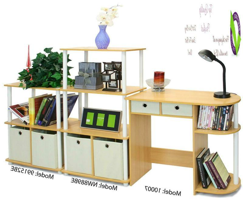 Furinno 11193Be/Wh/Iv Go Green Home