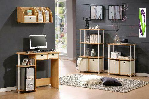 Furinno 11193Be/Wh/Iv Go Green Home Desk/Table,