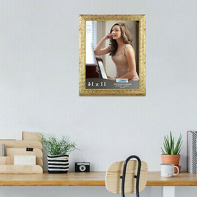11x14 Picture Photo Wall Or Table Top Gold 2 Pack