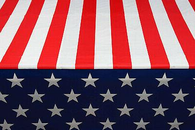 Exquisite American Flag Tablecloth - -