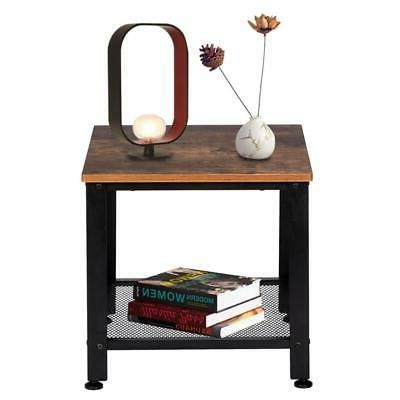 2 tier end table side table accent