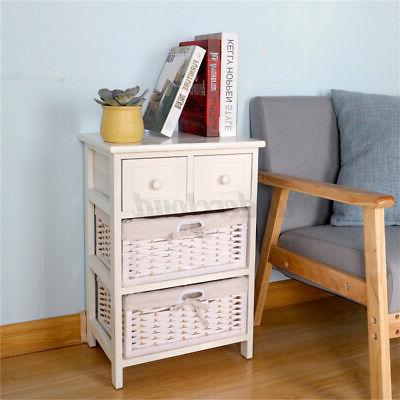 3/4 Layer Side Bedside Table with