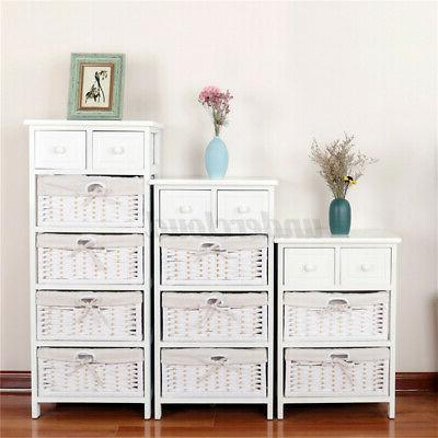 3/4 Layer Side Bedside Table Nightstand Organizer with