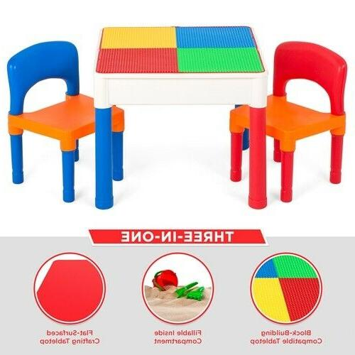 Best Choice 3-in-1 Kids Activity Table Set Building